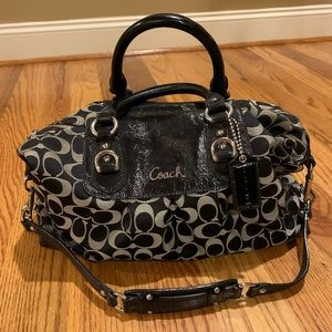 Coach satchel black handbag